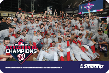 Washington Nationals Championship Commemorative Card